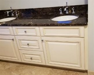 Gorgeous double bath vanity with granite top
