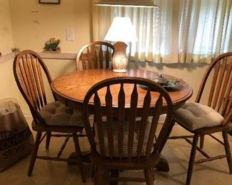 Kitchen table with extension and 4 chairs