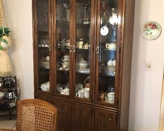 Drexel Heritage Dining Room set, China Cabinet, Table, chairs 3 extensions, Table pads, Buffet
