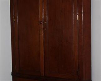 "Antique Federal  style corner cabinet, 44"" W x 88""H x 22"" Center Depth"