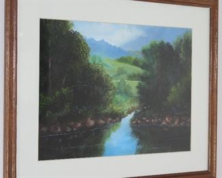 "Mountain/Landscape Framed print 21 1/2"" x 17 1/2"""