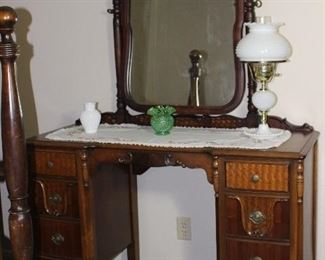 Depression Era Vanity with Adjustable Mirror.