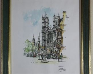 Westminster Print by Jan Korthals 1965 printed by Donald Art Company
