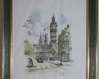Big Ben Print by Jan Korthals 1965 printed by Donald Art Company