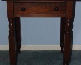 "Vintage mahogany side/work table 23"" x 23"" x 29"" H"