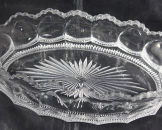 """Heisey """"Colonial"""" oval 10"""" x 5"""" dish"""