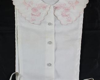 Vintage Dickey with Pink Embroidery Collar
