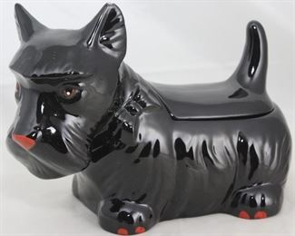 Vintage Ceramic Black Scottie Cookie Jar