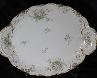 "Theodore Haviland Limoges  France Memphis Queensware Company; 18 1/2"" Platter"
