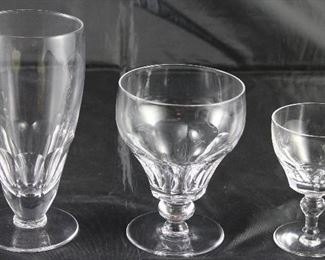 """Dorset"" by Stewart England 1955-1964, 18 iced teas, 19 low water goblets, 26 port wine goblets"