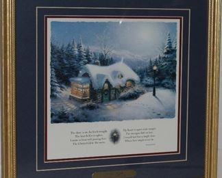 "Thomas Kinkade ""Silent Night"" Framed Print"