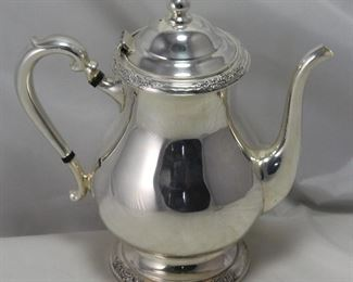 "International Silver Company ""Camille"" Silverplate 10"" teapot"