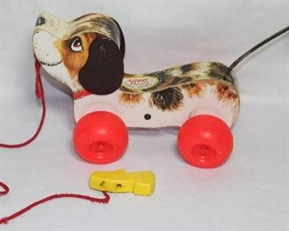 "Fisher Price Vintage ""Little Snoopy"" Dog Pull Toy"