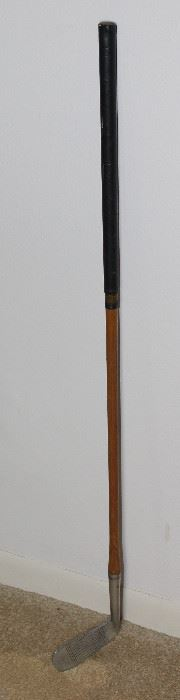 Vintage Wooden Shaft Golf Iron: Professional Golfers Association Standard