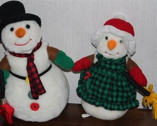 International Silver co  Mr & Mrs Snowman