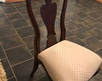 Pilgrim House, Mahogany dining table with 6 chairs, an extra leaf and table pads