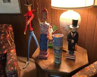 Carl McKenzie Lady Liberty,   Earnest Patton Abraham Lincoln,   Harry Jennings Hobo