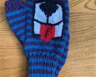 Lot 57 Fingerless Glove T Purple/Teal stripes