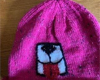 Lot 68 BFDR Hat D Fuscia wool tweet