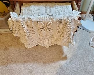 Gorgeous Popcorn Stitch Queen Coverlet & Pillow Cover, Heirloom Quality