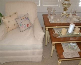 Drexel Occasional Chairs, nesting tables