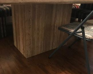 travertine table