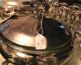 electric silver plate server