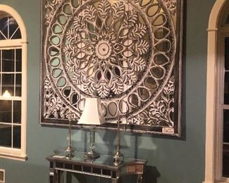 LARGE MIRROR(6'X6') COMES IN 3-2' PIECES