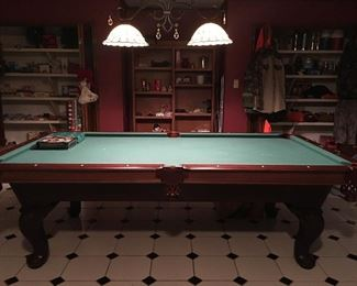 Olhausen Billard Table with Accufast Cushions - Made in the USA