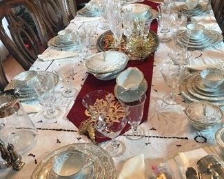"""Stunning Set of Noritake """"Croydon""""     Made in Japan Also Several Matching  Serving Pieces"""