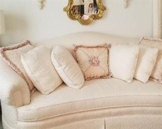 Sofa with pillows $295