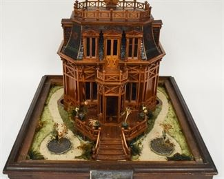 19th Century Folk Art House Model