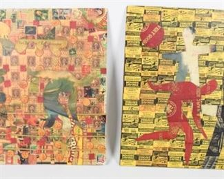Two Outsider Art Mixed Media by Wayne Cunningham