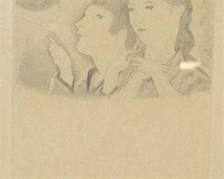 Foujita Print of Two Girls