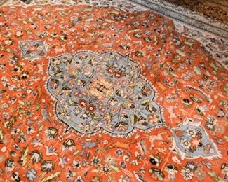 """Persian Tabas Carpet / Rug with Animals (approx. 11'10"""" x 9')"""