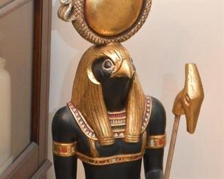 Egyptian God Horus Floor Statue