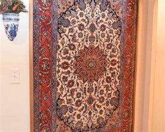 "Persian Iranian Isfahan Carpet / Rug (approx. 5'7"" x 3'8"")"
