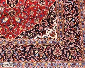 "Persian Iranian Kashan Carpet / Rug, Signed (approx. 7'2"" x 4'10"")"