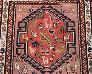 "Persian Soumak Carpet / Rug (approx. 3'5"" x 2'2"")"