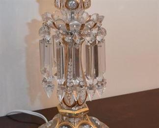 Fantastic Glass / Crystal Table Lamps (Pair)