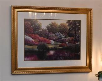 Beautiful Framed Artwork (Garden Scene)