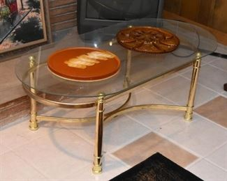 Brass & Glass Coffee / Cocktail Table