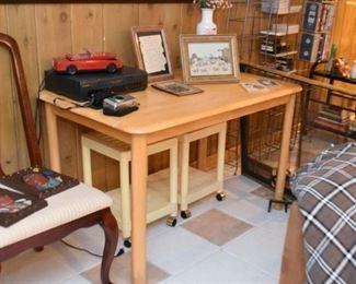 Light Wood Tone Table / Desk