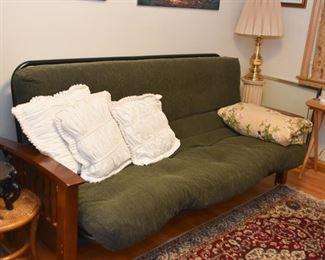 Wood Futon with Cushion / Mattress