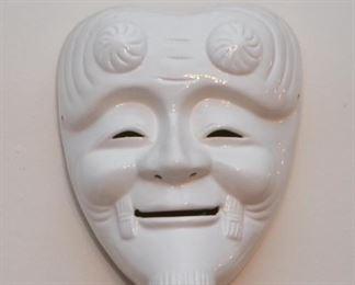 Japanese Ceramic Mask / Wall Hanging
