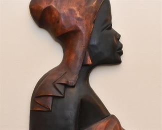 Wood Carved African Wall Hanging