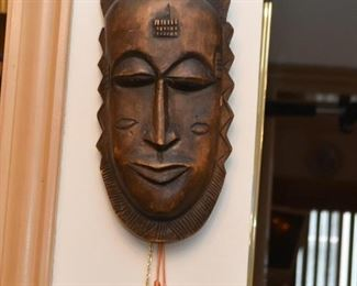 Wood Carved African Wall Hanging / Mask