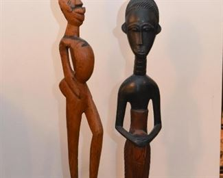 Wood Carved African Statues