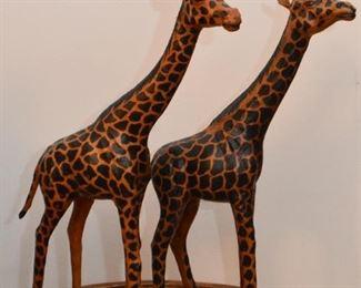 African Giraffe Statues