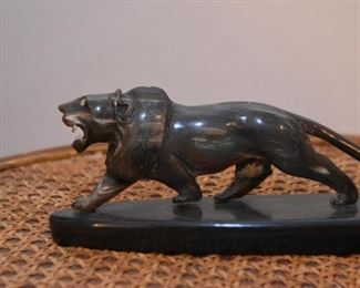 Ox Horn Carving / Lion Figurine